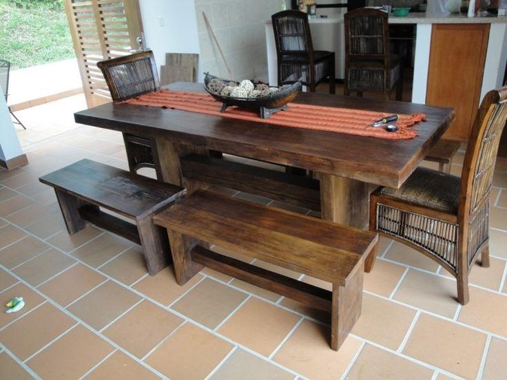 muebles rústicos nicoll, hermosos muebles en madera  Small Balcony