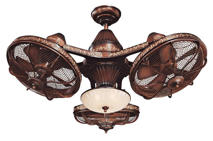 "38"" Esquire Rich Bronze Finish 3-Head Ceiling Fan - #99349 