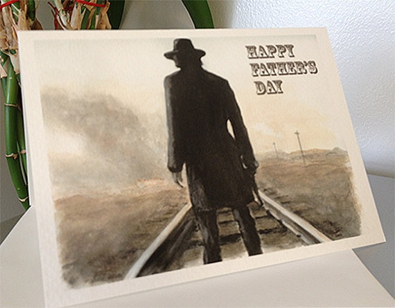 Hell on Wheels Father's Day Blank Card on Etsy, $4.00 CAD