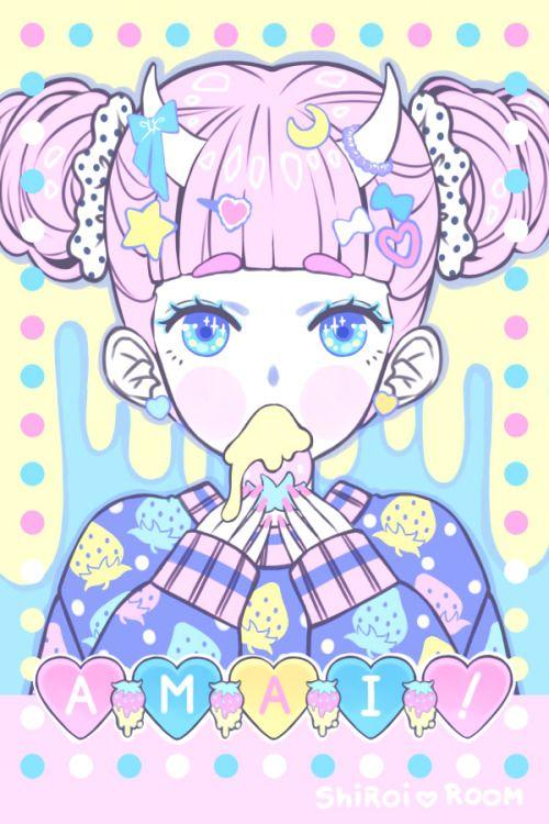 Cute,Kawaii,Pastel,Horns,Bow,Hearts