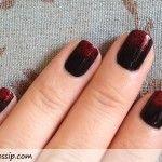 Black x Red Nails {Sponge Gradient Nail Tutorial}