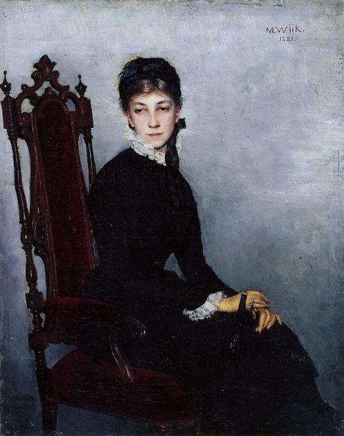 Hilda Wiikin Muotokuva 1881 Maria Wiik
