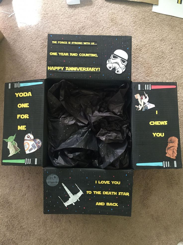 Star Wars Care Package Boyfriend Anniversary Gift Pick Up Lines Cute #LdrGiftsforhim