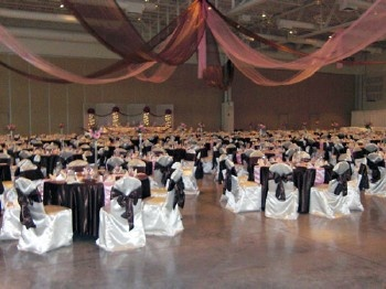 Beautiful wedding reception at the Washington County Fair Park / West Bend,WI wedding reception venues