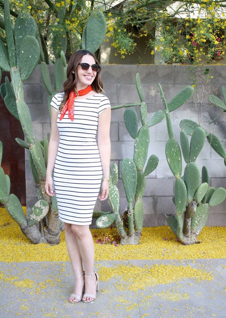 Stripe Dress | Neckercheifs