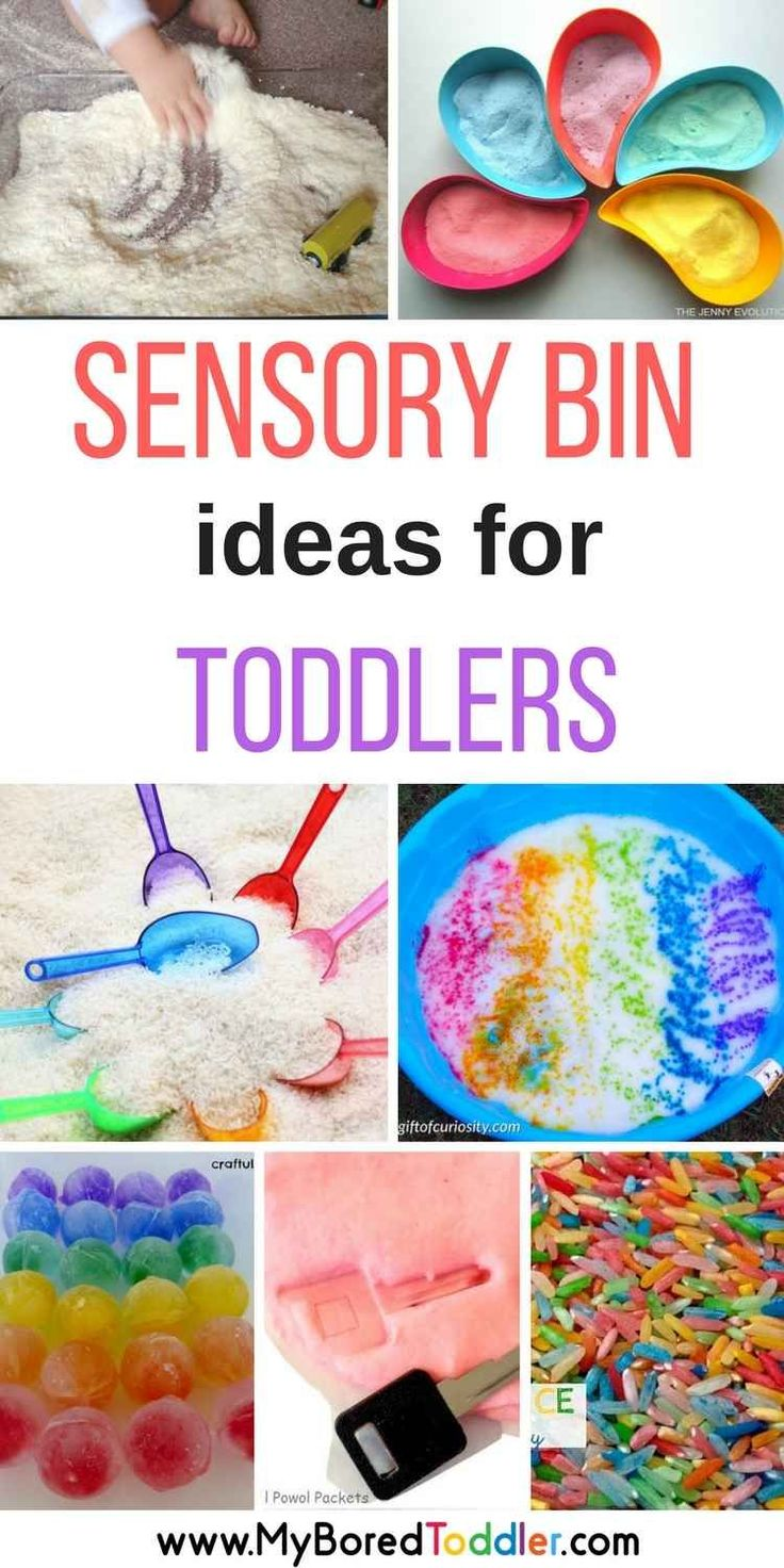 Crafts for the elderly in nursing homes - Sensory Bins For Toddlers