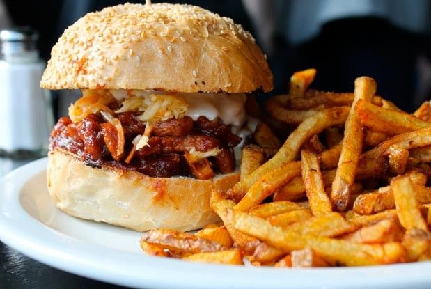 Toronto's Best Sandwiches: the pulled unpork from #Hogtown #Vegan.