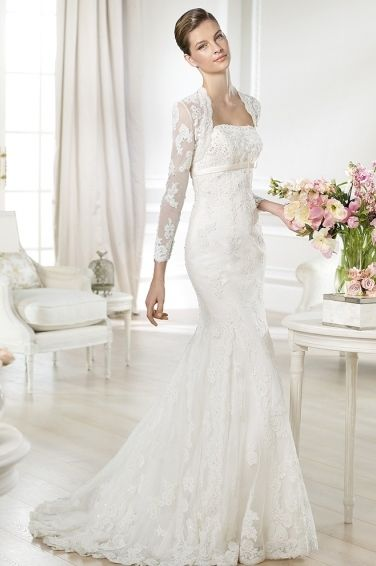 Pronovias White One #Tango. For more information, please contact us at 814-236-3550 or tietheknotbridalshoppe@gmail.com.