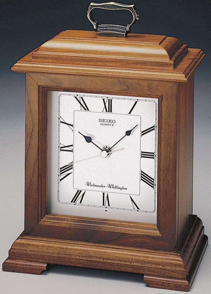 0-035148>Mantel Clock Cherry Solid Wood