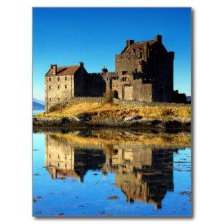 Castillo Escocia de Eilean Donan Postal