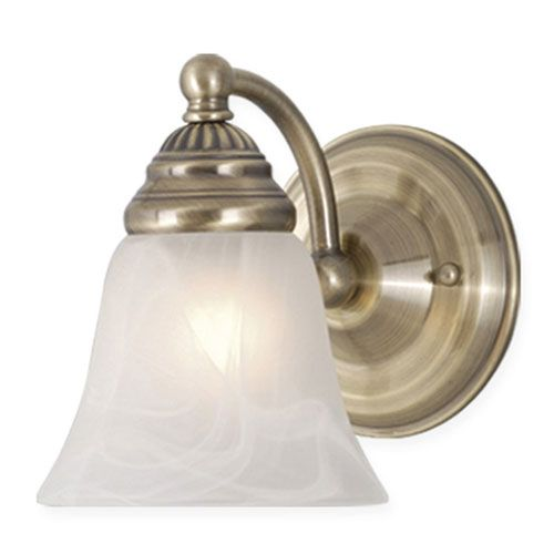 $33 Stanford Antique Brass Wall Light 1 Light Bath Lighting Wall Lighting