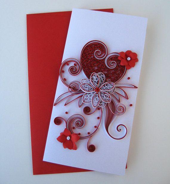 Для мальчика, открытки с квиллинга на день святого валентина