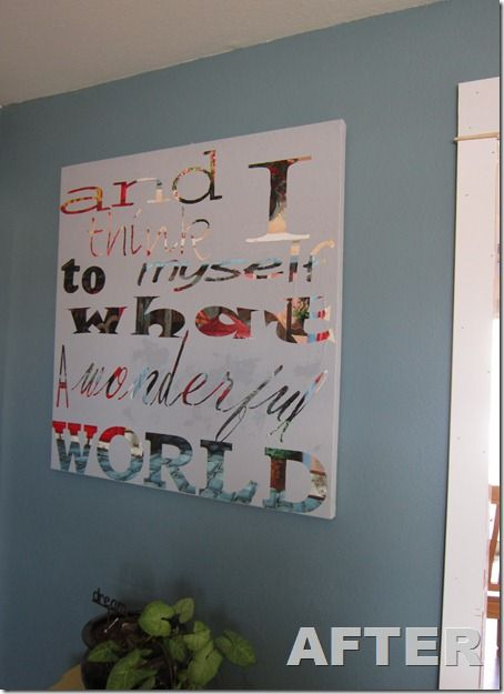 Upcycle an old painting or print. Put letter stickers on it. Paint over the whole thing. Peel em off.