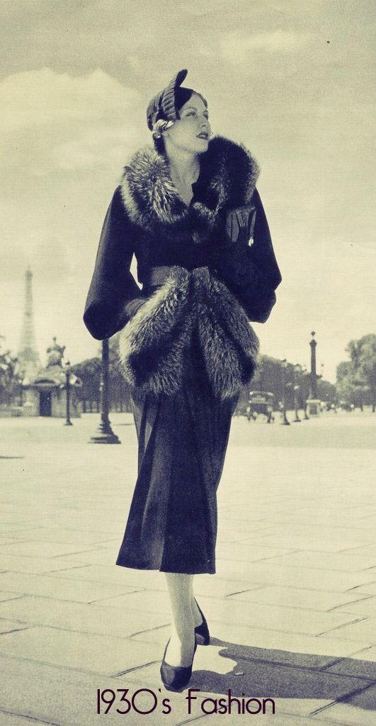 La elegancia de los años 30´s. Simplemente majestuoso #Moda #Style