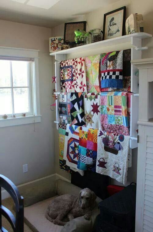 Great way to display multiple quilts!