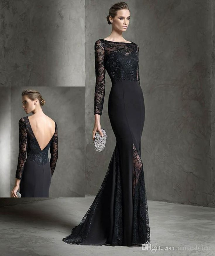 Black Mermaid Evening Dress Uk 98