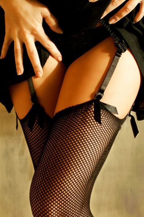 b: I'm not sure there's anything sexier than thigh-highs and garter belts.... grrr!