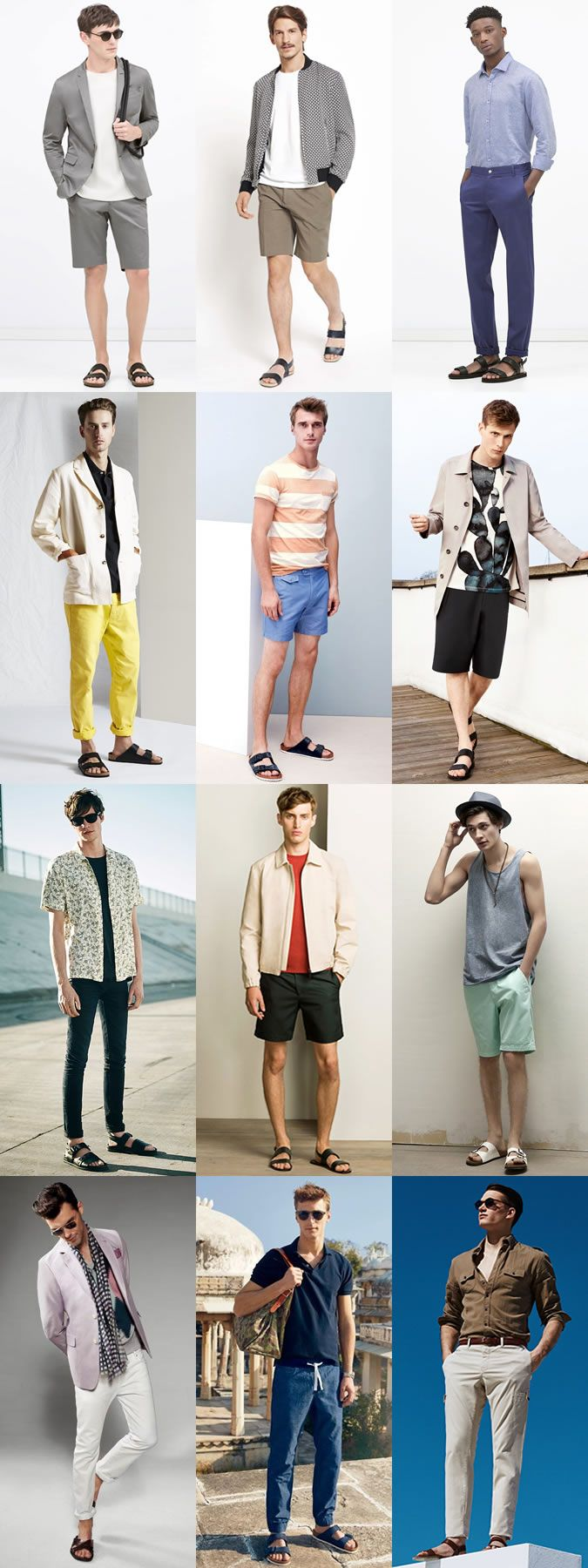 Men's Summer Style: Sandals Outfit Inspiration Lookbook
