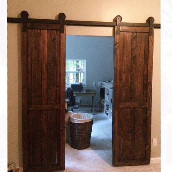 Modern Sliding Doors For Closet: Modern Door Track Kit Closet Hardware Inside/Outside