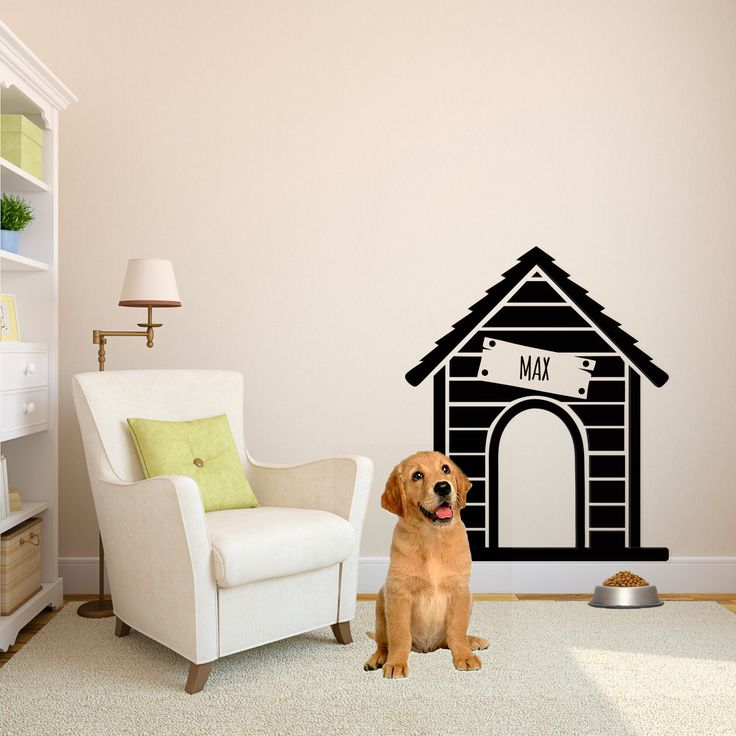 Personalized Dog House - Wall Decal Custom Vinyl Art Stickers by danadecals on Etsy https://www.etsy.com/listing/186693183/personalized-dog-house-wall-decal-custom