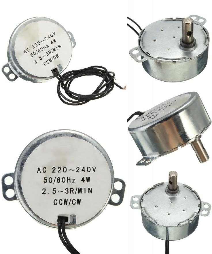 [Visit to Buy] 220-240VAC 4W Black Dual Wires 2.5-3RPM/min Synchronous Motor for Micro Oven #Advertisement