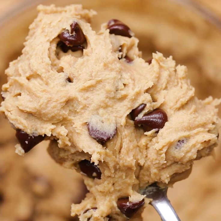 Chocolate Chip Chickpea Cookie Dough by Tasty