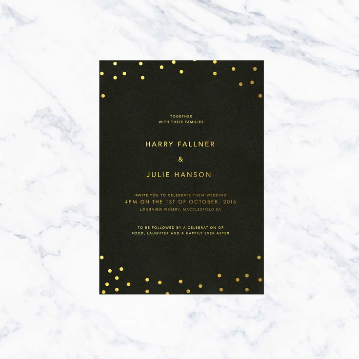633 best sail and swan wedding invitations images on pinterest black and gold foil confetti wedding invitations sail and swan stopboris Choice Image