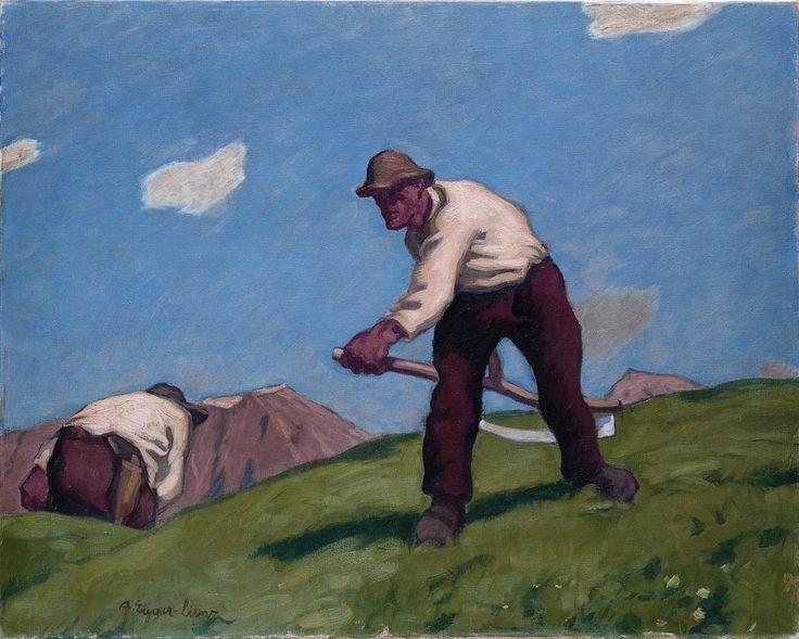 Albin Egger-Lienz, Zwei Bergmäher, 1913, Öl auf Leinwand. (Foto: Museum Schloss Bruck)