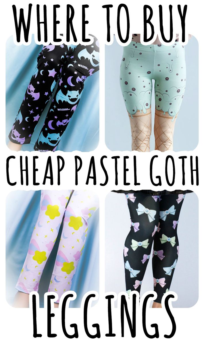 ♡ Where to buy cheap Pastel goth Leggings ♡ We made a selection of the best kawaii cute leggings that goes perfect for your new pastel goth outfit! Read the article here: http://ninjacosmico.com/top-5-pastel-goth-leggings/