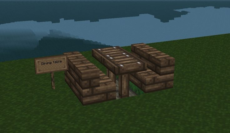How To Build A Dining Table In Minecraft Woodworking