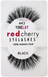 Red Cherry False Eyelashes #43 Order at Promakeuptutor.com #discounts #makeup #makeupforever #promakeuptutor #makeupgeek #sale #sales  #shopping #shoppingonline