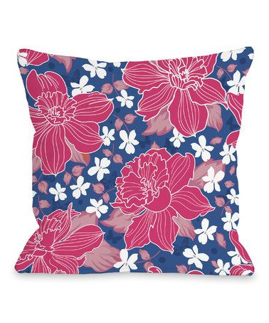 Blue And Pink Decorative Pillows : Pink & Blue Exotic Flower Decorative Pillow Exotic flowers, Pink blue and Decorative pillows