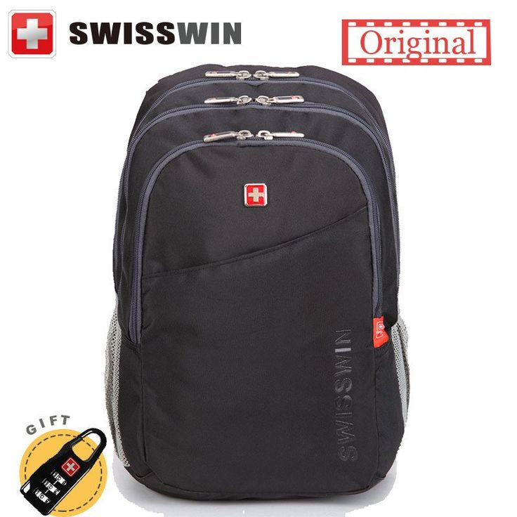 Unisex Swisswin Backpack  Multi-Pocket Travel Backpack Student Laptop/Notebook Bag