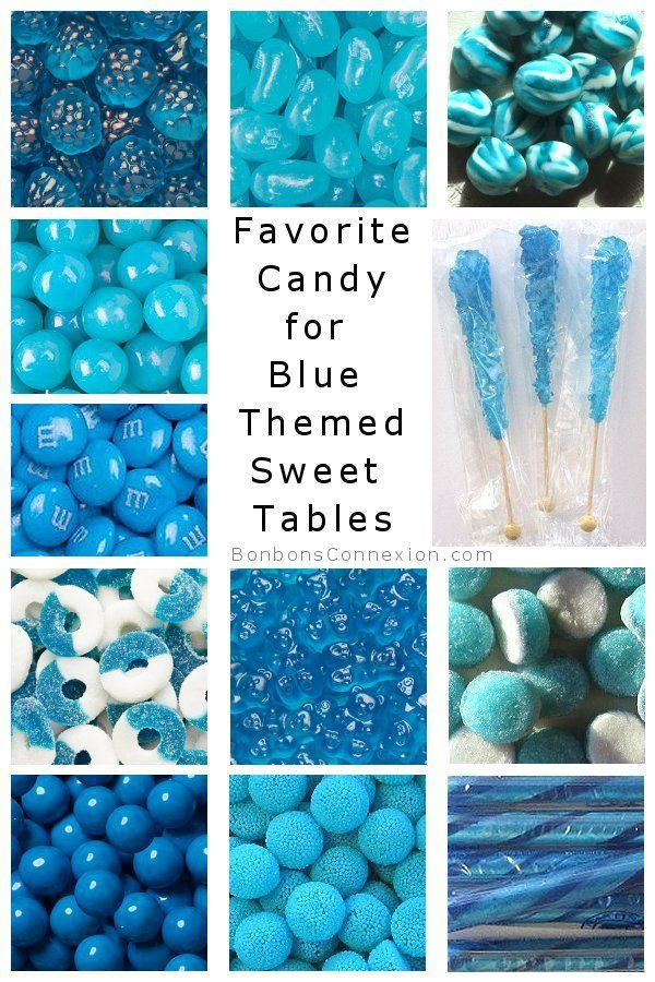 Most Favorite Candy For A Blue Themed Candy Buffet Candy Table Or Sweet Table Blue Candy Buffet Baby Shower Candy Bar Blue Candy Table