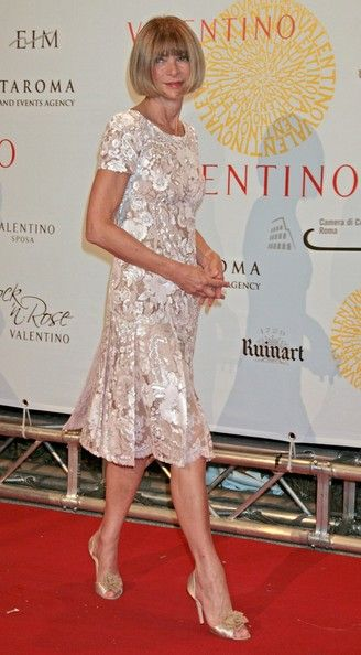 Vogue Editor Anna Wintour at Valentino 45th Anniversary Celebration in Rome, July 2007.