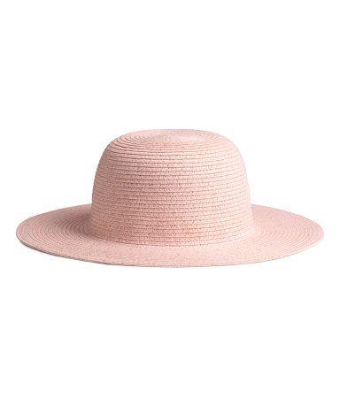 Glitterende strooien hoed | Lichtroze/glitters | Kinderen | H&M NL