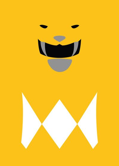 Power Rangers - Yellow Ranger Minimalist Art Print
