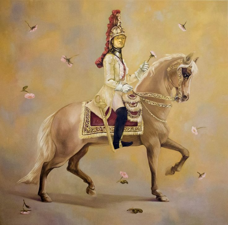 FINEARTSEEN - Charming guardsman by Oksana Reznik. Find the perfect artwork for your home or space. An original fine art painting inspired by porcelain available on FineArtSeen l The Home Of Original Art. Enjoy FREE DELIVERY on every order. Art for art lovers, interior designers and project managers. << Pin For Later >>