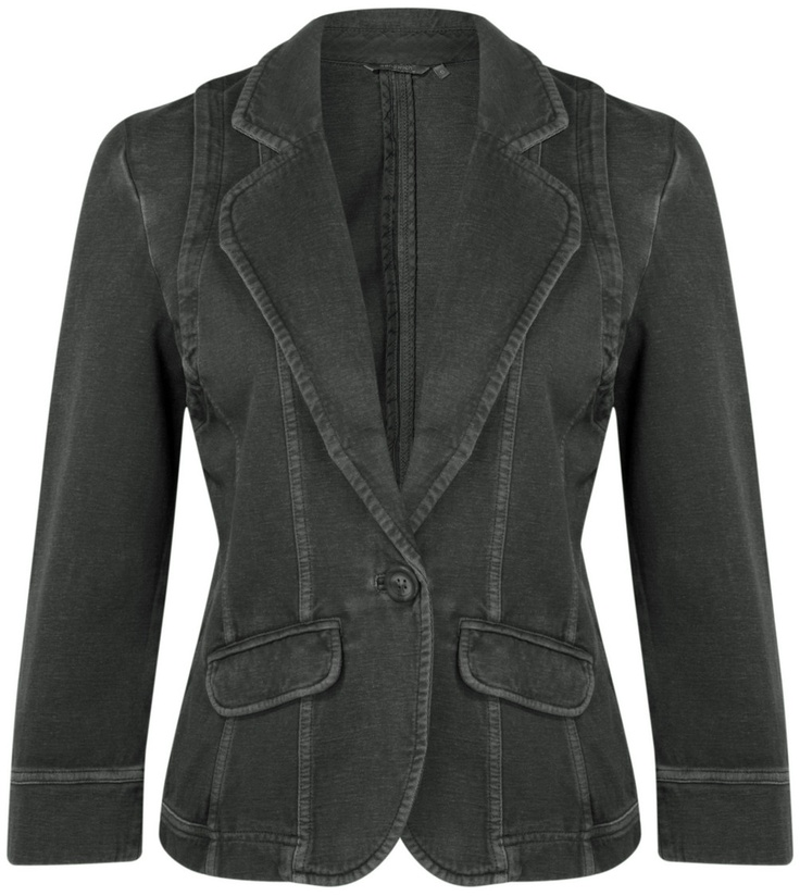 Sandwich Clothing Fine Yarn Jacket (Charcoal) at Gemini Woman