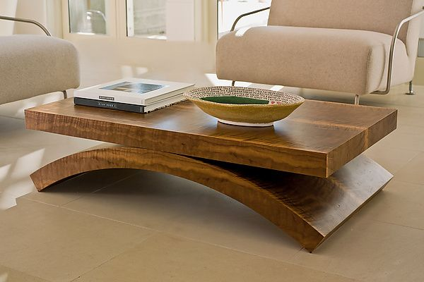 Black Walnut Rectilinear Coffee Table by Enrico Konig: Wood Coffee Table available at www.artfulhome.com