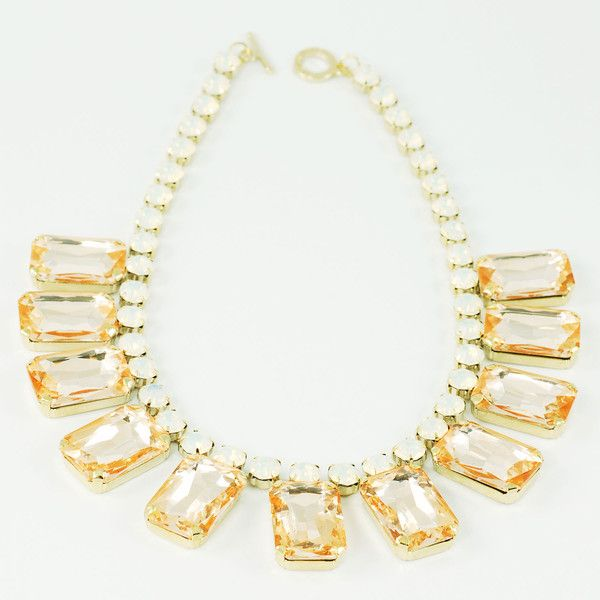CATERINA MARIANI BIJOUX Swarovski Light Necklace | La Luce http://shoplaluce.com/collections/caterina-mariani-bijoux/products/caterina-mariani-bijoux-swarovski-necklace-light