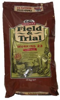 £15.26 - Field & Trial Working 23 with beef combines meat and a blend of cereals together with the oils, vitamins and minerals essential for good health and for the sustained stamina needed during a full day in the field.