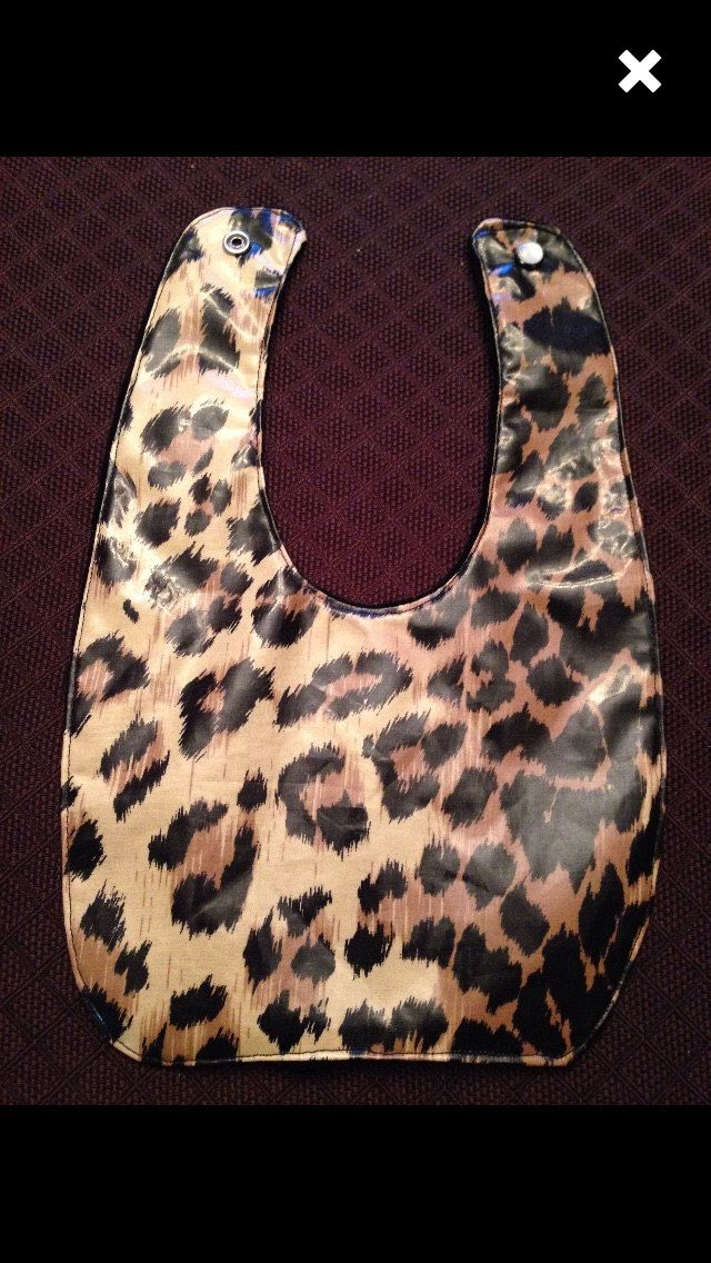 A personal favorite from my Etsy shop https://www.etsy.com/ca/listing/226368652/laminated-cotton-leopard-print-bib