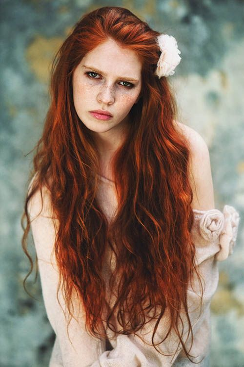 natural red hair color on long hair  Red Hair Color,