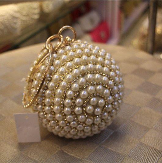Elegant Pearl Beaded Clutch Bag