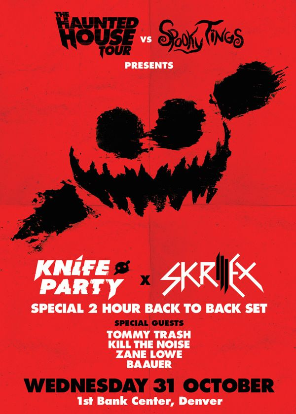 Knife Party & Skrillex - Haunted House Tour by Christopher Haines, via Behance