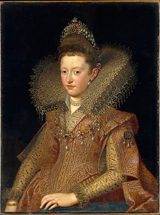 Margherita Gonzaga (1591–1632), Princess of Mantua  Frans Pourbus the Younger, painted early 1600's.