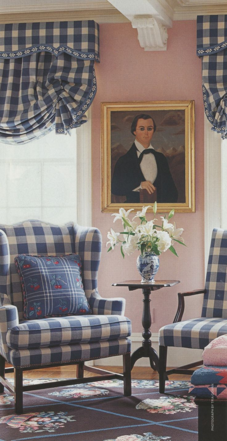 Navy gingham curtains - Beautiful Buffalo Check Ps Getting Extra Yardage Of Our Upholstery Fabric Is