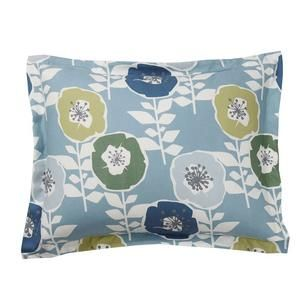 Sunnyside Floral 5 Oz. Flannel Duvet Cover / Sham - Blue
