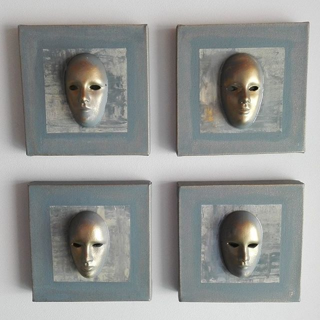 Nuevo cuadro máscaras #cuadros #bogota #colombia #arte